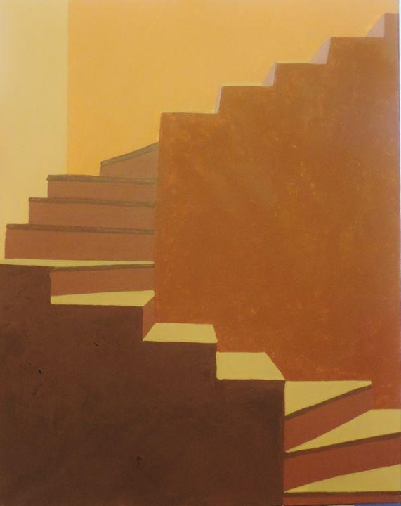 Study ocher stairs - ROUSSEAU  Jean daniel