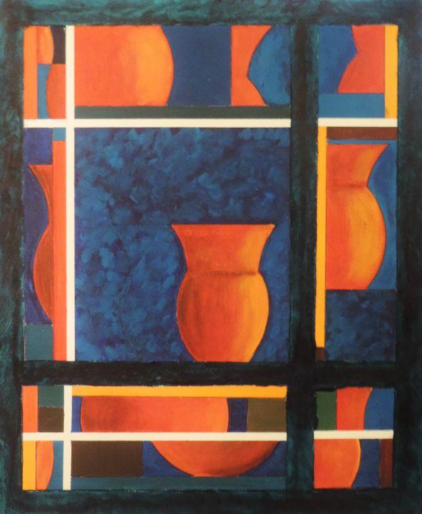 composition vases - ROUSSEAU  Jean daniel