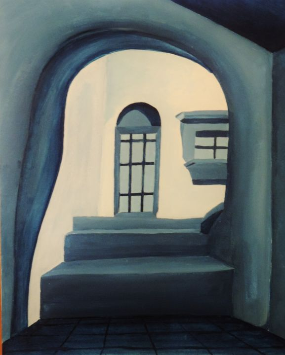 Arch, stairs and door. - ROUSSEAU  Jean daniel
