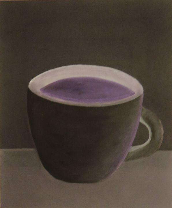 The cup with violet tea - ROUSSEAU  Jean daniel