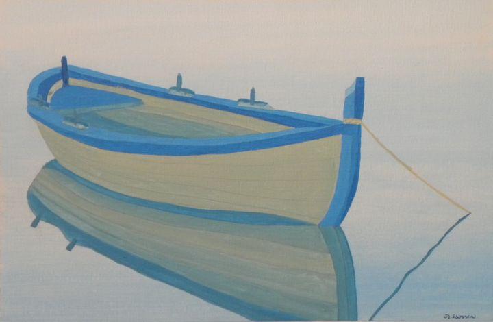 The reflection of the boat - ROUSSEAU  Jean daniel