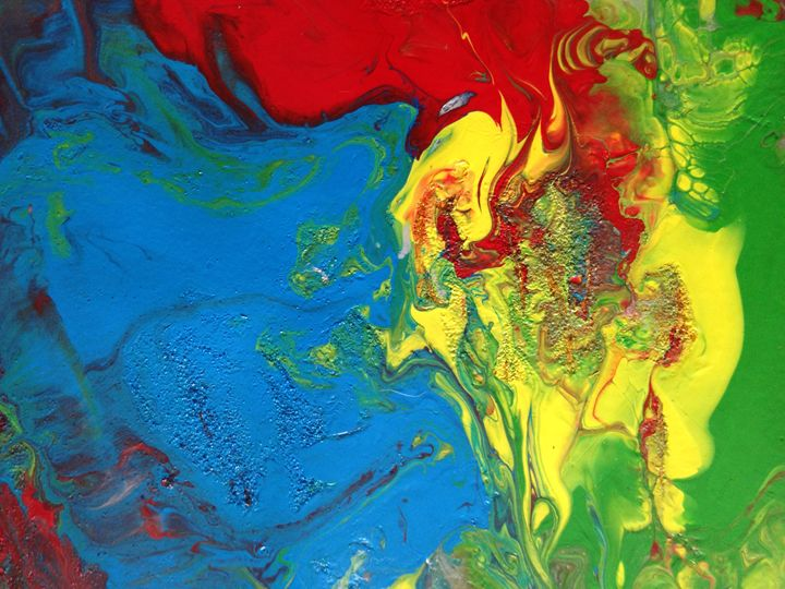 Abstract Original Acrylic - Abstract on Paper