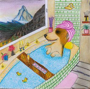 Soaking in tub