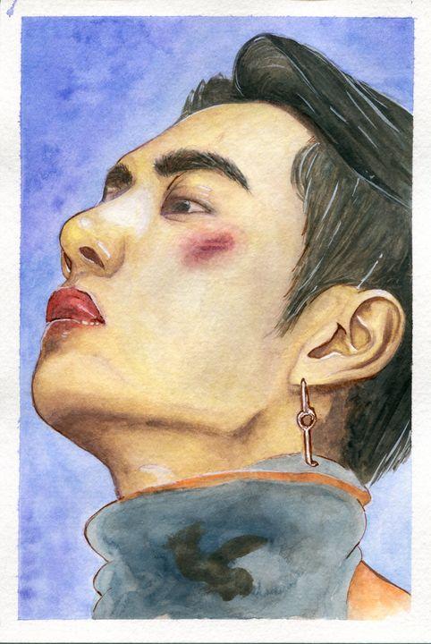 Wang Yibo UNIQ Asian Actor Watercolo - Swan20