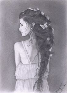 Braid in her hair