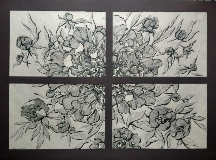 Flower puzzle - Ukrainian  village painter