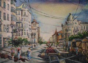 Central street in Samara