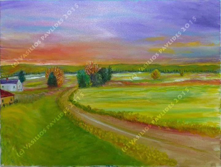 Lavender Skies - Vasili's Art