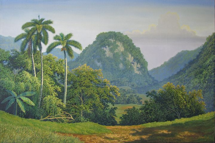 Dawn in the valley - Cuban Paintings