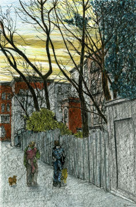 Alley, Cobble HIll, Brooklyn - Jim Fischer