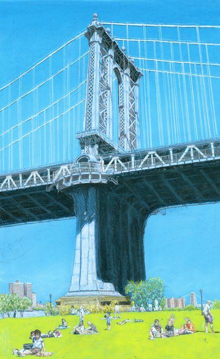 Manhattan Bridge, Brooklyn - Jim Fischer
