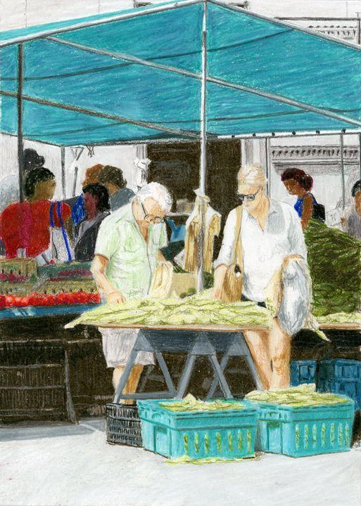 Market, Cadman Plaza, Brooklyn - Jim Fischer