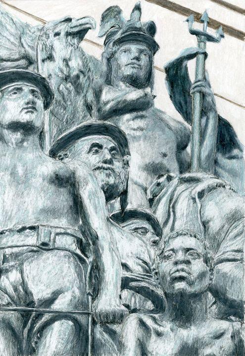 Grand Army Plaza Navy Statue, Bklyn - Jim Fischer