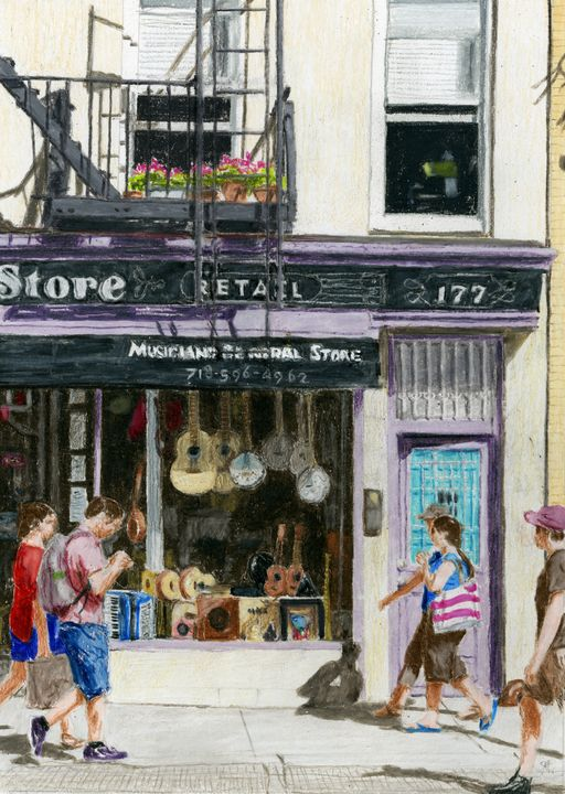 Music Store, Cobble Hill, Brooklyn - Jim Fischer