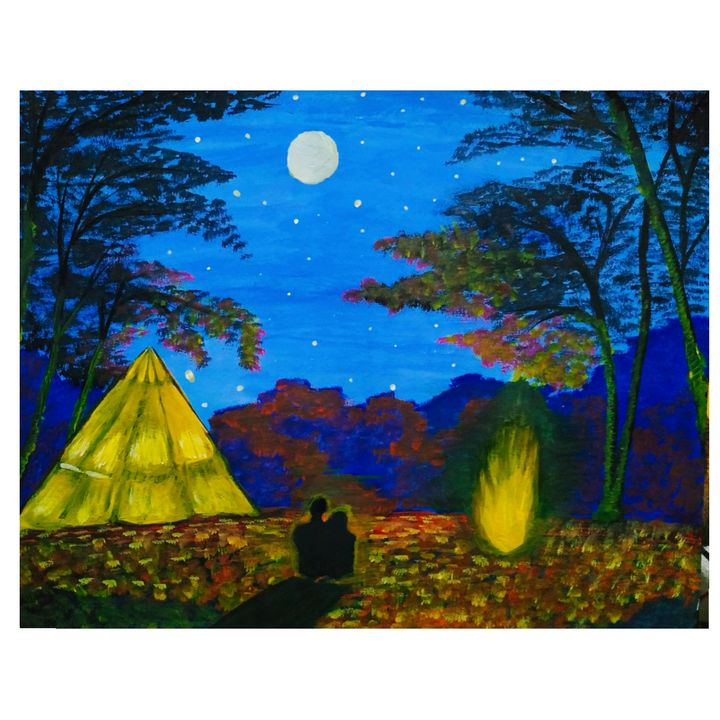 Night camp - Pallavi Paintings