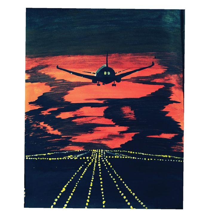 Plane landscape - Pallavi Paintings