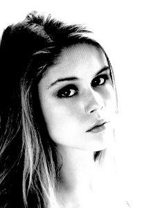 Erin Moriarty Black & White Portrait