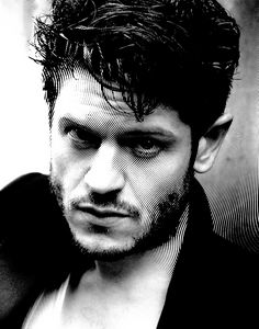 Black & White Portrait Of Iwan Rheon