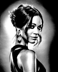 Zoe Saldana Black & White Portrait