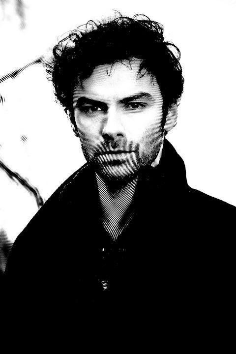 Aidan Turner Black & White Portrait - Saintiro