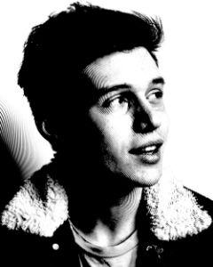 Nick Robinson Black & White Portrait