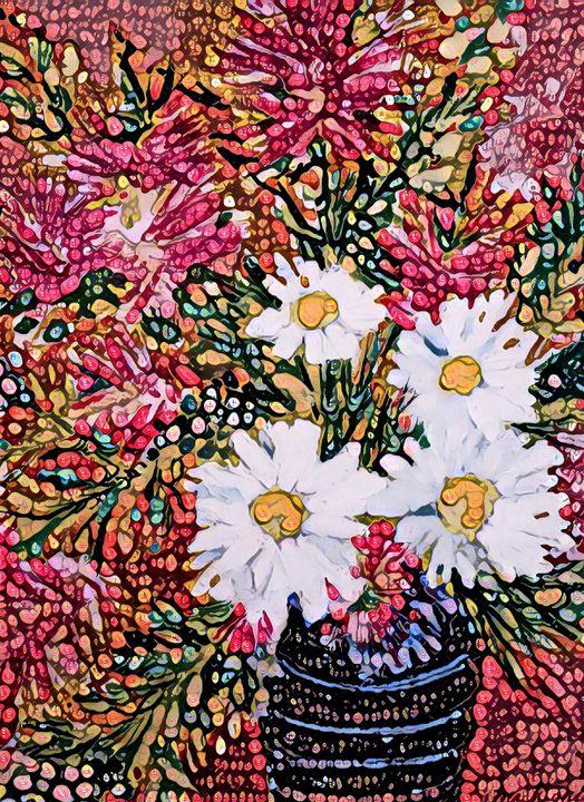 Beaded floral - Mastagni Fine Arts