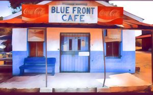 Abstract cafe