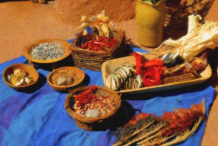 Early New Mexican Cuisine - Steve Bailey Art