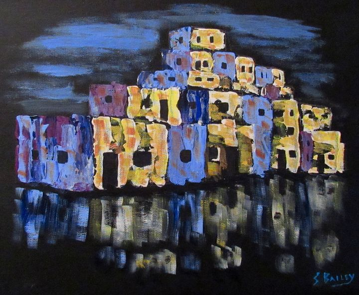Night Time at the Pueblo - Steve Bailey Art