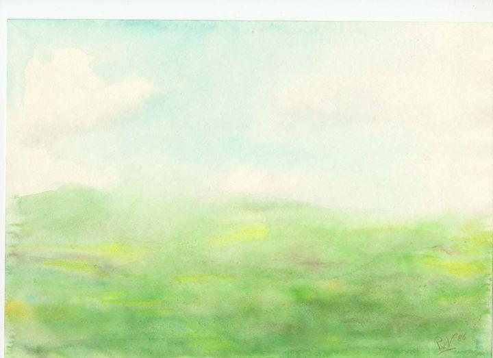 Morning on Irish meadow - Piers' Art