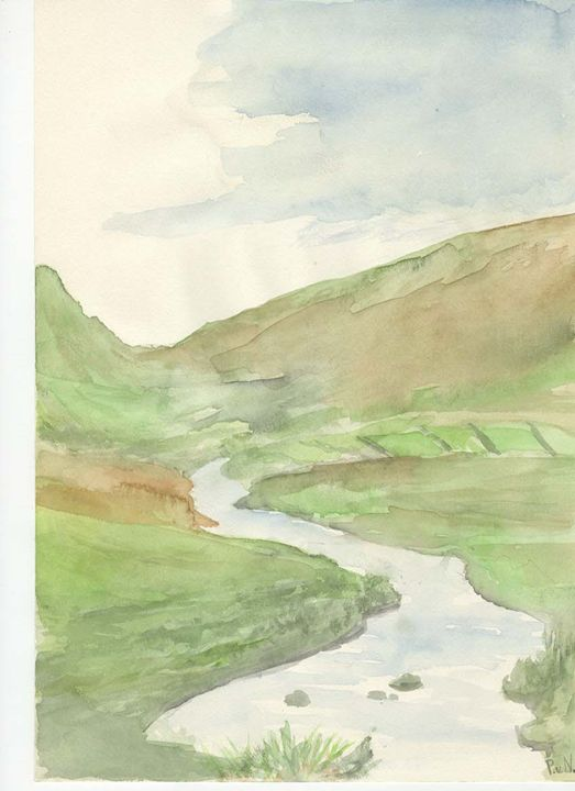 River in ring of Kerry Eire. - Piers' Art