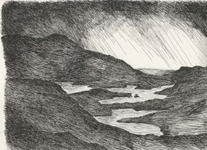 Pen and Ink Irish landscape
