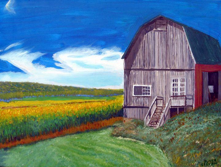 White's Grey Barn - Oliver Steven Merriam