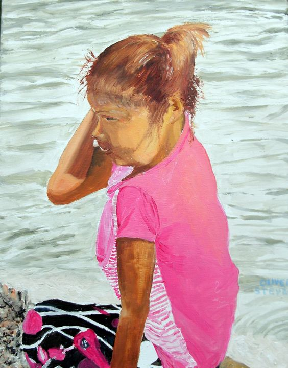 Child in Pink - Oliver Steven Merriam