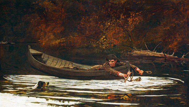 Hound and Hunter by Winslow Homer -  Jezzasway