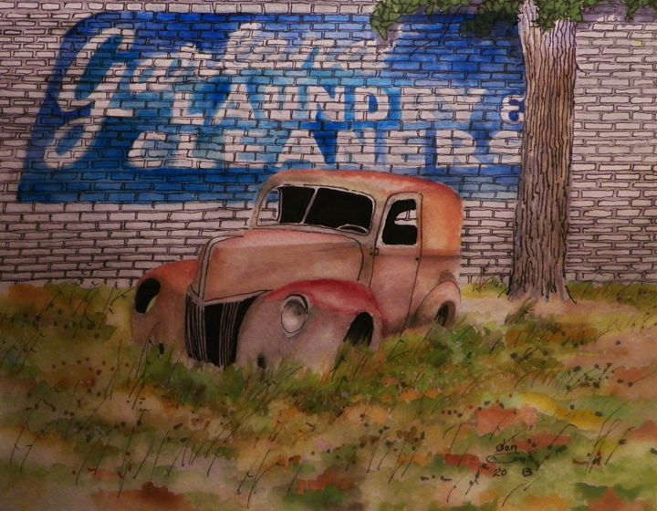 Garland laundry and cleaners - don cook fine art