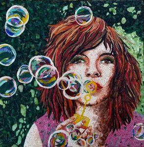 Blowing Bubbles - Monique Sarfity Mosaics