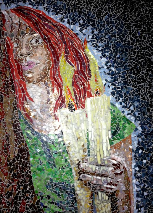 Candlelight - Monique Sarfity Mosaics