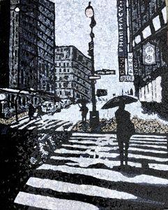 Gray New York - Monique Sarfity Mosaics