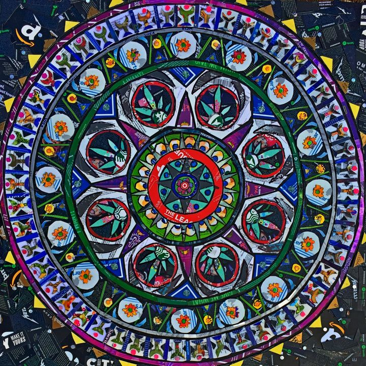 Plastic Inner Peace - Monique Sarfity Mosaics