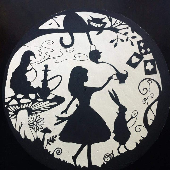 Alice Wonderland Shadow Art Strong Peace Power Drawings Illustration Childrens Art Disney Artpal