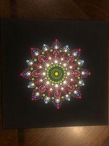 Handmade mandala dot painting