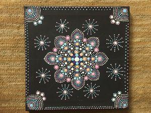 Mandala dot painting