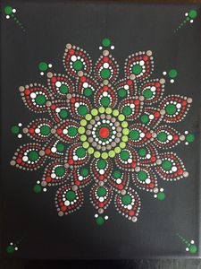 Handmade dot mandala