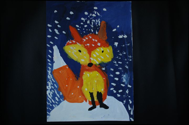 fox and snow - Child arts