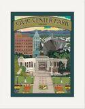 Matted Print: Civic Center Park