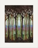 Matted Print: Silhouette Forest