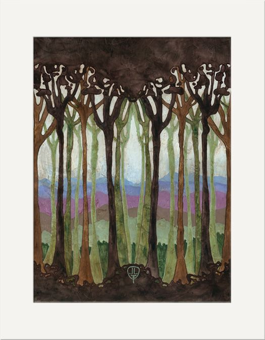 Silhouette Forest - The Bungalow Craft by Julie Leidel