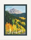 Matted Print: Mt. Yale Autumn