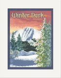 Matted Print: Winter Park